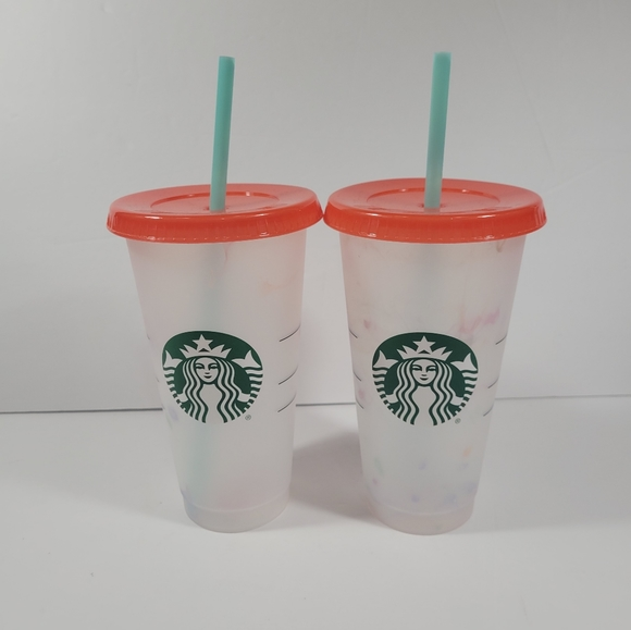 Set of 2 Starbucks Color Changing Cups 2021